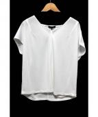 iCB(アイシービー)の古着「ジャージー半袖ブラウス」|ホワイト