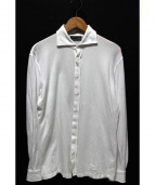 BARBA(バルバ)の古着「鹿の子ワイドカラーシャツ」|ホワイト