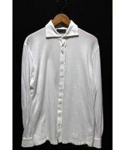 BARBA(バルバ)の古着「鹿の子ワイドカラーシャツ」 ホワイト