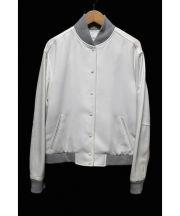 LE CIEL BLEU(ルシェルブルー)の古着「スタジャン」|ホワイト×グレー