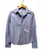 Frank&Eileen(フランクアンドアイリーン)の古着「スキッパーシャツ」|ブルー