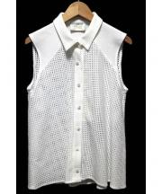 revionnet(ルヴィオネ)の古着「ノースリーブシャツ」|ホワイト