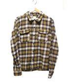 BARNS(バーンズ)の古着「開襟シャツ」|ベージュ