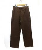 COTTON OXFORD(コットンオックスフォード)の古着「モールスキンパンツ」|ブラウン