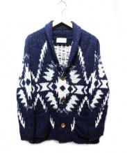 Seagreen(シーグリーン)の古着「ショールカラーカーディガン」|ネイビー