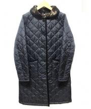 LAVENHAM(ラベンハム)の古着「カモフラボアキルティングコート」|ブラック