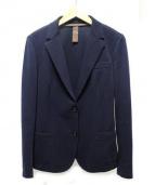 eleventy(イレブンティ)の古着「ニットテーラードジャケット」|ネイビー
