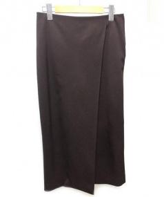 MUSE de Deuxieme Classe(ミューズ ドゥーズィエムクラス)の古着「タイトスカート」|ブラウン