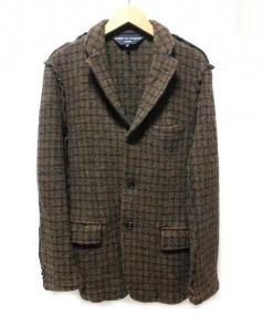 COMME des GARCONS HOMME(コムデギャルソンオム)の古着「チェックウールジャケット」 ブラウン