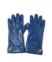 COACH(コーチ)の古着「アイコニックレザーグローブ」|ブルー