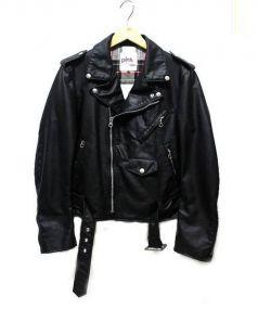 JUNYA WATANABE CdG MAN PINK(ジュンヤワタナベマンピンク)の古着「コーティングライダースジャケット」|ブラック