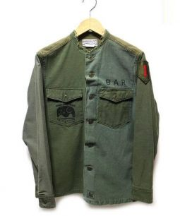 SALT WATER COWBOY(ソルト ウォーター カウボーイ)の古着「リメイクミリタリージャケット」|カーキ