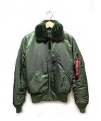 ALPHA(アルファ)の古着「B-15ジャケット」|カーキ