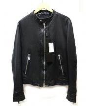 MUSHER(マーシャー)の古着「ラムレザーシングルジャケット」|ブラック