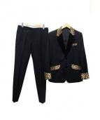 WACKOMARIA(ワコマリア)の古着「豹柄セットアップスーツ」|ブラック