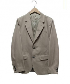 WACKOMARIA(ワコマリア)の古着「刺繍テーラードジャケット」|ベージュ