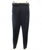 jonnlynx(ジョンリンクス)の古着「serge pants」 ブラック