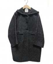 Adam et Rope(アダムエロペ)の古着「フーデッドコート」|ブラック