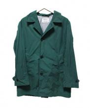 EDIFICE(エディフィス)の古着「ステンカラーコート」|グリーン