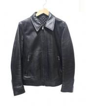WACKO MARIA(ワコマリア)の古着「シングルレザージャケットTYPE-2」|ブラック