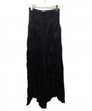 ISSEY MIYAKE(イッセイミヤケ)の古着「プリーツロングスカート」|ブラック