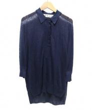 il by Saori Komatsu(アイエルバイサオリコマツ)の古着「襟付ニット」|ネイビー