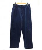 BLUE_BLUE(ブルーブルー)の古着「コットンタックパンツ」|ネイビー