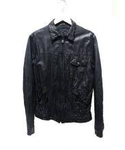 BEAMS(ビームス)の古着「レザージャケット」|ブラック
