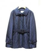 courreges(クレージュ)の古着「ベルト付ジャケット」|ネイビー