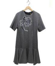 LOUIS VUITTON(ルイ・ヴィトン)の古着「スパンコール装飾スウェットワンピース」|グレー