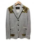 GRIFFIN HARTLAND(グリフィン ハートランド)の古着「リネン混ジャケット」|ライトグレー