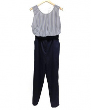 FRAY ID(フレイアイディー)の古着「オールインワン」|ネイビー×ホワイト