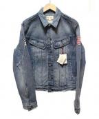 GAP(ギャップ)の古着「ダメージ加工デニムジャケット」|ブルー