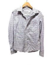 Frank & Eileen(フランクアンドアイリーン)の古着「スキッパーシャツ」|ピンク×グレー