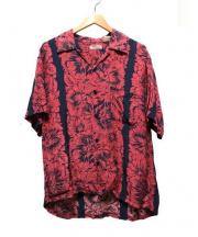 Sun_Surf(サン サーフ)の古着「アロハシャツ」 レッド×ネイビー
