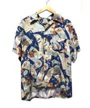 Sun_Surf(サン サーフ)の古着「和柄アロハシャツ」 ブルー
