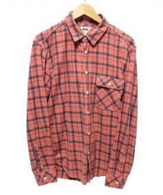 RHC Ron Herman(アールエイチシー ロンハーマン)の古着「チェックシャツ」|オレンジ