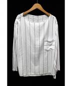 GALERIE VIE(ギャルリーヴィー)の古着「ストライプブラウス」 ホワイト