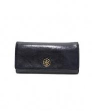 TORY BURCH(トリーバーチ)の古着「レザー長財布」|ブラック