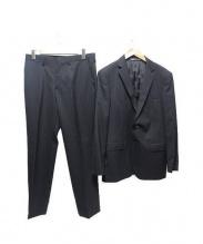 DURBAN(ダーバン)の古着「ストライプセットアップスーツ」|ブラック
