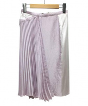 NINA RICCI(ニナリッチ)の古着「シルク切替プリーツスカート」 ピンク