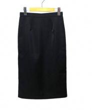 Adam et Rope(アダム エ ロペ)の古着「バックジップタイトスカート」|ブラック
