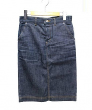 MUVEIL WORK(ミューベルワーク)の古着「バックリボンデニムスカート」|インディゴ