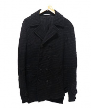 COMME des GARCONS HOMME PLUS(コムデギャルソンオムプリュス)の古着「ウールコート」 ブラック