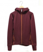 HOUDINI(フーディニ)の古着「フーデットフリースジャケット」|ボルドー