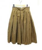 YAECA(ヤエカ)の古着「ビッグタックキュロット」|ベージュ