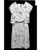 en recre(アン レクレ)の古着「プリーツワンピース」|ホワイト