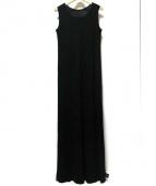 Yohji Yamamoto(ヨウジヤマモト)の古着「ロングノースリーブワンピース」|ブラック