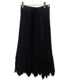 ISSEY MIYAKE(イッセイミヤケ)の古着「プリーツスカート」|ブラック