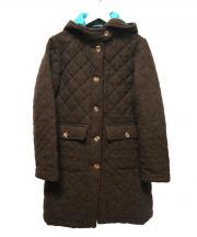 BEAVER(ビーバー)の古着「キルティングフーデッドコート」 ブラウン